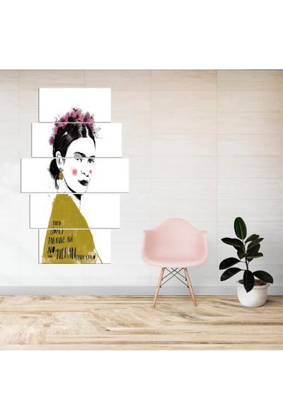 PR Frida Kahlo Kanvas Tablo 5 Parçalı Dekoratif Tablo