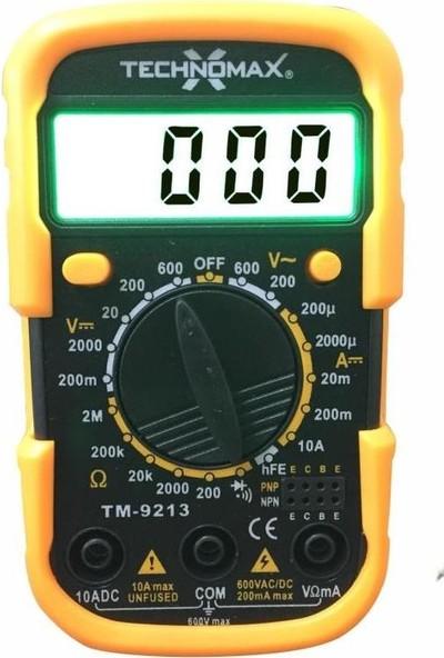 Technomax Geseus Ölçü Aleti Fosforlu Dijital Multimetre + 30W Kalem Havya Ikili SET-TM9119+TM9213