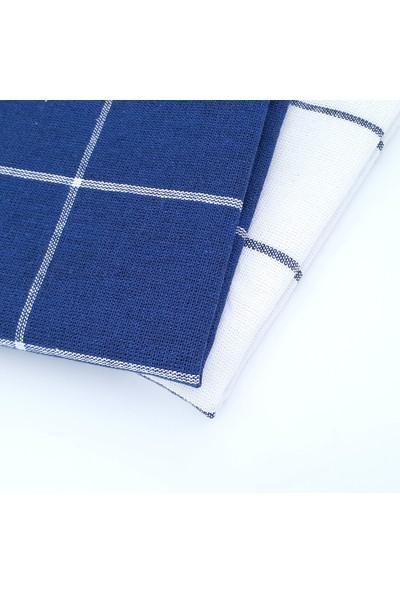 Seyit Ali Bey   2 Adet Elit Desen   Mavi-Beyaz   50*70 cm   Kurulama Bezi   Kızılcabölük Dokuması