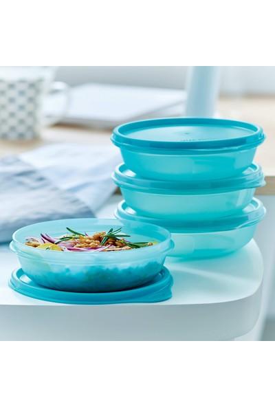 Tupperware Şeker Kaplar 4'lü Buzdolabı Saklama Seti 300 ml Mavi