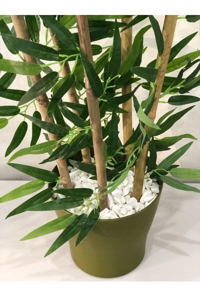 Bahçem Yapay Yapraklı Dekoratif Bambu Ağacı 90CM 5 Gövde