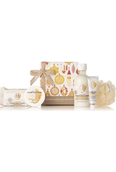 The Body Shop Almond Milk & Honey 5'li + Çantası