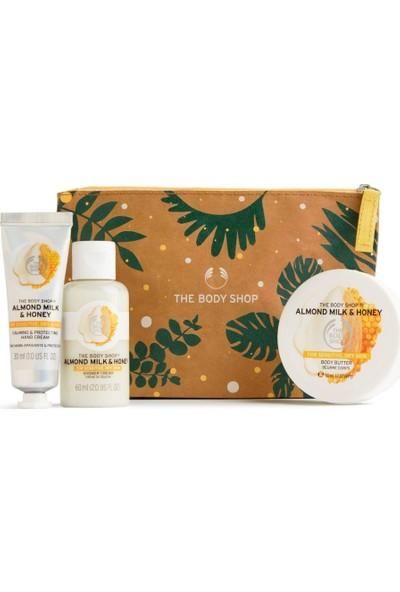 The Body Shop Almond Milk & Honey 3'lü + Çanta