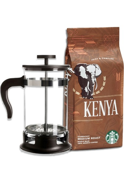 Starbucks Kenya 250GR French Press Öğütülmüş +French Press Demlik