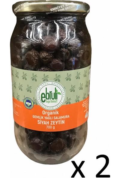Ebruli Doğal Bakkal Gemlik Yağlı Salamura Zeytin 700 gr (2 Li)