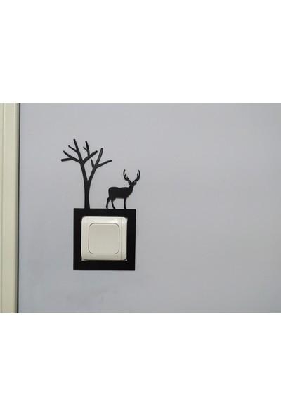 Özgür Sanat Atölyesi Dekoratif Priz Çerçevesi 1.kalite Metalden Üretilmiştir.(03)