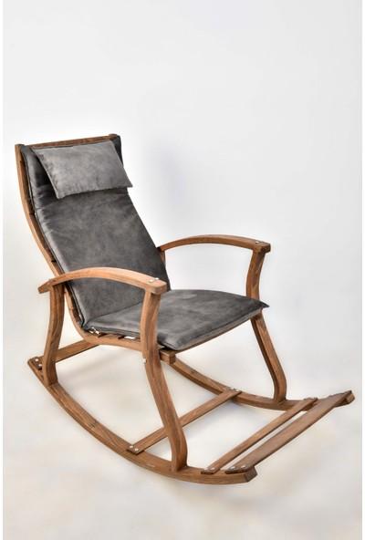 Bavyera La Bien Ahşap Formlu Sallanan Sandalye MDL02 Gri