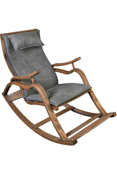 Bavyera La Bien Ahşap Formlu Sallanan Sandalye MDL01 Gri