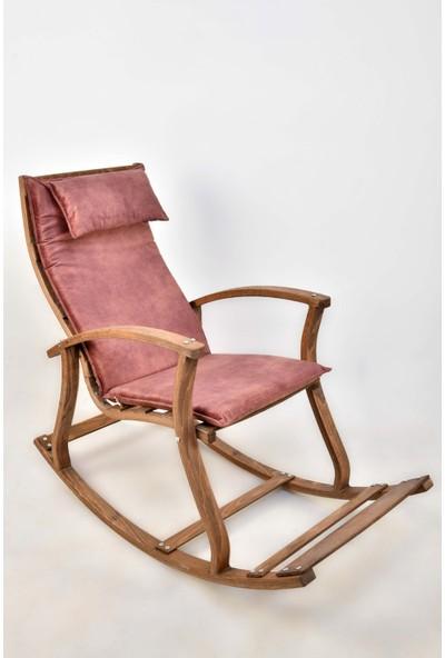 Bavyera La Bien Ahşap Formlu Sallanan Sandalye MDL02 Pembe