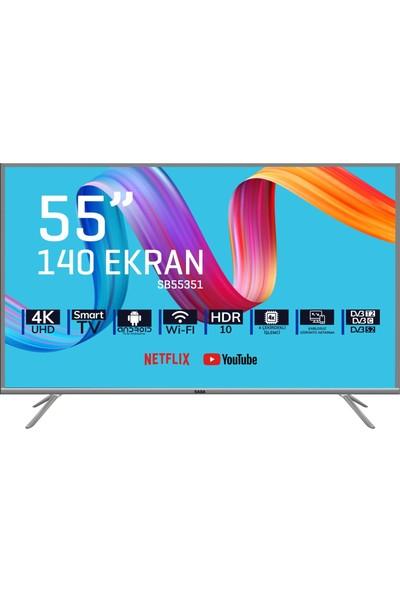 """Saba SB55351 55"""" 140 Ekran Dahili Uydu Alıcılı 4K Smart LED Tv"""