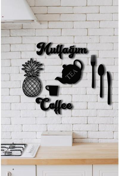 Nt Handmade Mutfağım Ananas 9 Parça Mutfak Konsepti Ahşap Duvar Dekoru
