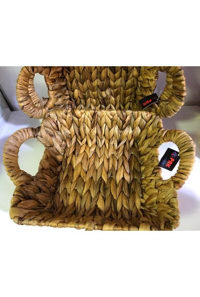 Karçiçeği Hasır Ekmek Sepeti 28X16 cm