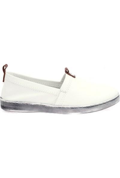 Mammamia D20YA-20 Beyaz Kadın Günlük Ayakkabı