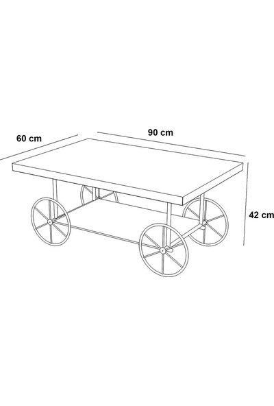 Dere Home Orta Sehpa Tekerlekli-Foça (Derehome)