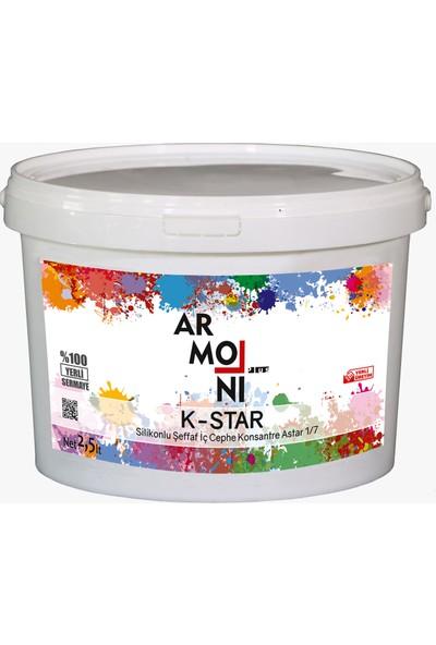 Armoni K-Star Silikonlu Şeffaf Iç Cephe Konsantre Astar 1/7 - 2,5 Lt