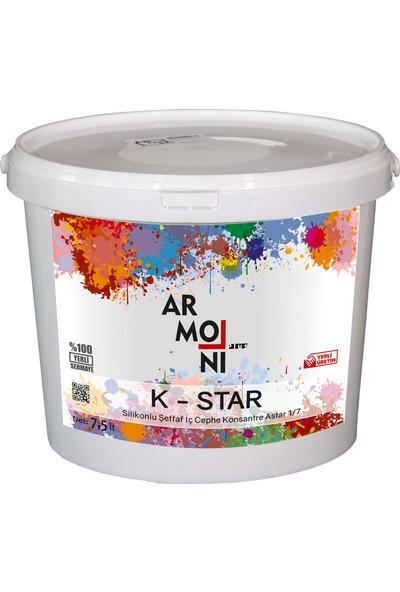 Armoni K-Star Silikonlu Şeffaf Iç Cephe Konsantre Astar 1/7 - 7,5 Lt