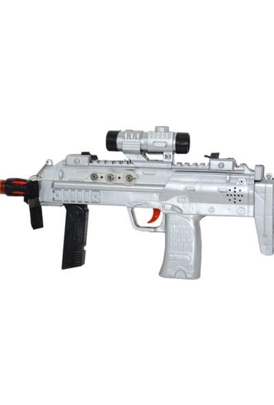 Prestij Dürbünlü Askılı 2 Fonksiyonlu Sesli Işıklı Oyuncak Tüfek Lazerlidir