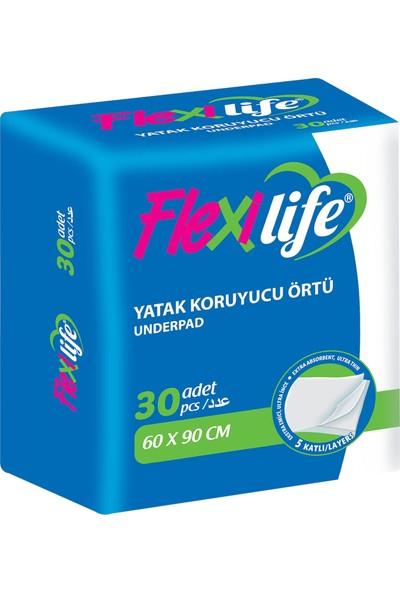 Flexilife Hasta Alt Bezi (Serme Yatak Koruyucu) 60 cm x 90 cm (30 Adet)