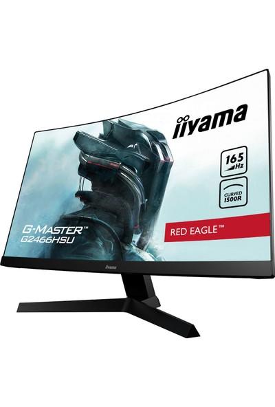 "iiyama G-Master Red Eagle 24"" 1ms HDMI + Displayport Full Hd 165Hz Freesync Premium Curved Oyuncu Monitörü G2466HSU-B1"