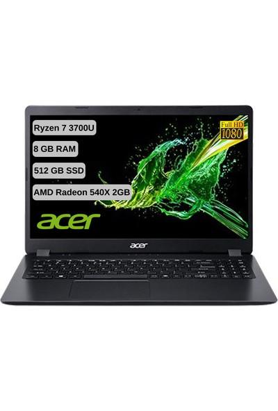"Acer Aspire 3 A315-42G AMD Ryzen 7 3700U 8GB 512GB SSD Radeon 540X Freedos 15.6"" FHD Taşınabilir Bilgisayar NX-HF8EY-00D"