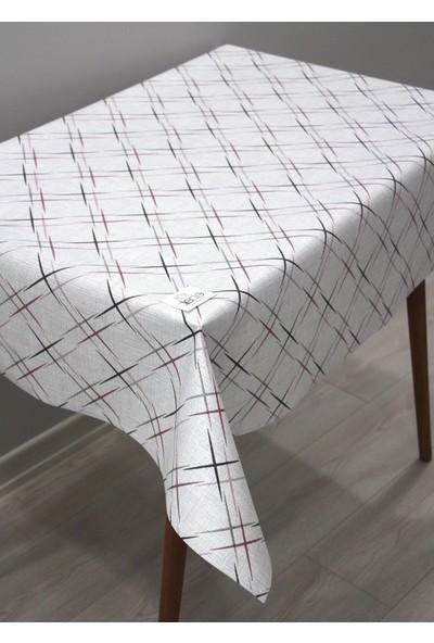 Dede Ev Tekstil Elyaf Silinebilir Pvc Muşamba Masa Örtüsü Arti Lila
