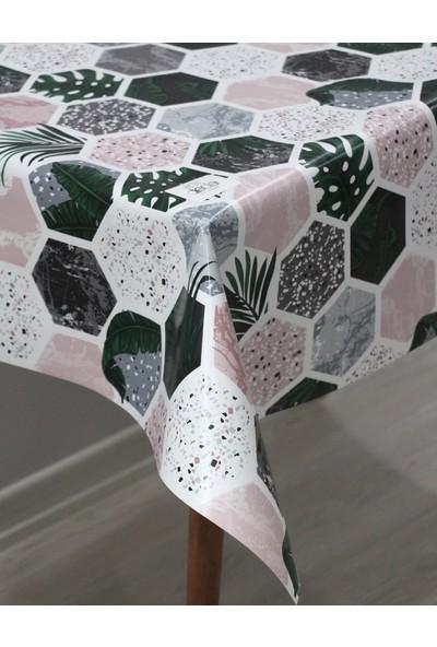 Dede Ev Tekstil Elyaf Silinebilir Pvc Muşamba Masa Örtüsü Petek Yaprak
