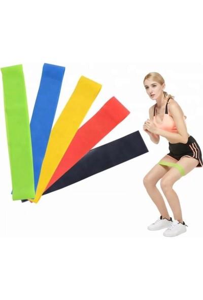 Technosmart 2 Li Farklı Dirençte Aerobik Bandı Pilates Squat Çalışma Lastiği