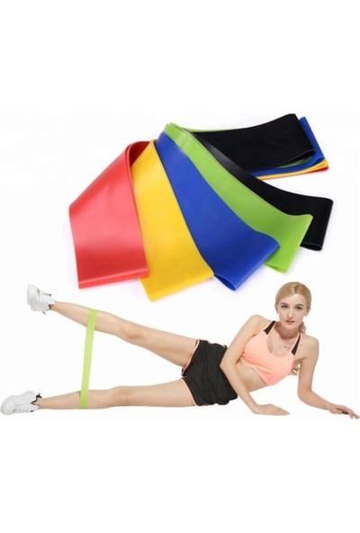 Technosmart 3 Lü Farklı Dirençte Aerobik Bandı Hafif Orta Sert Pilates Squat Çalışma Lastiği