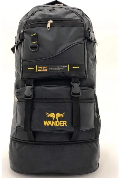 Wander Körüklü Dağcı Outdoor Siyah Sırt Çantası