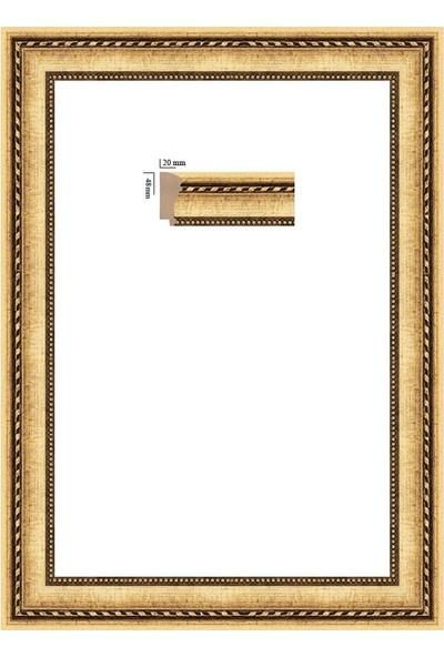 Selçuklu Sanat Puzzle Çerçevesi 48 mm 68 x 96 cm 2000'lik Yaldız