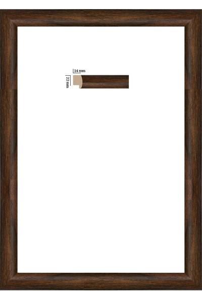 Selçuklu Sanat Puzzle Çerçevesi 22 mm 48 x 68 cm 1000'lik Kahverengi