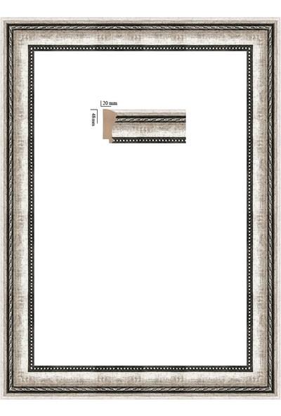 Selçuklu Sanat Puzzle Çerçevesi 48 mm 48 x 68 cm 1000'lik Gümüş