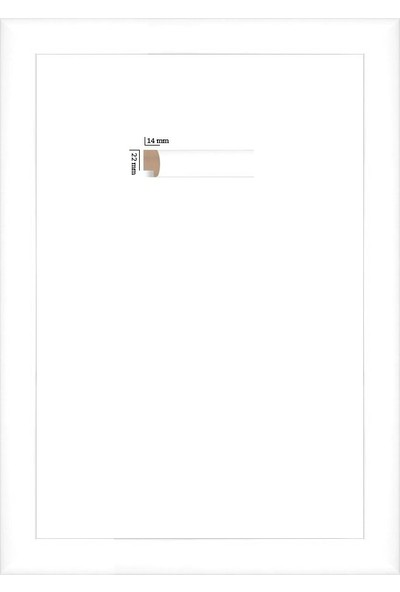 Selçuklu Sanat Puzzle Çerçevesi 22 mm 48 x 68 cm 1000'lik Beyaz