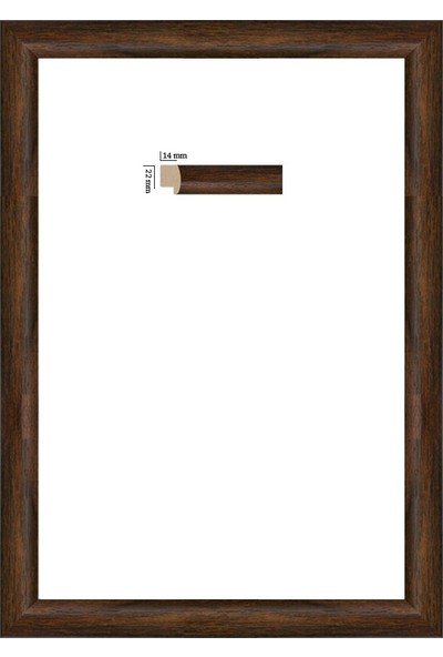 Selçuklu Sanat Puzzle Çerçevesi 22 mm 35 x 50 cm 500'lük Kahverengi