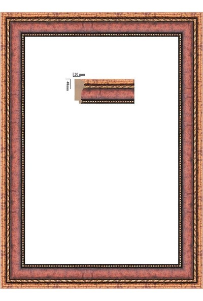 Selçuklu Sanat Puzzle Çerçevesi 48 mm 60 x 85 cm 1500'lük Venge