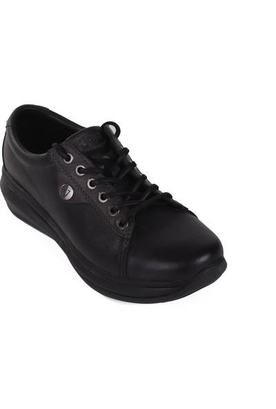 Joya Siyah Deri Kadın Ayakkabı Paris Iı Black