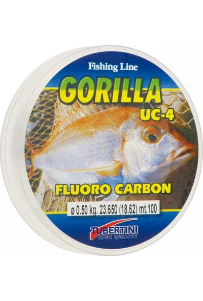 Tubertini Gorılla Uc-4 Fluoro Carbon 100 mt Misina