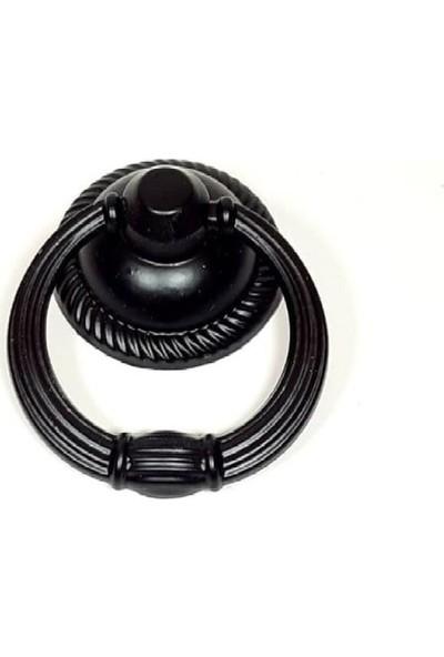 Interio Rustik Halka Sarkaç Siyah Düğme Kulp Modelleri Dolap Çekmece Mobilya Mutfak Kulbu