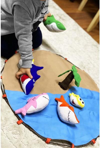 Özgür Yağmur Köpek Balığı Ailesi Çocuk Peluş Oyuncak Baby Shark Family