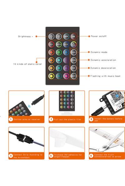 Mbw Rgb Şerit Işık Akıllı LED Şerit Işık Aydınlatma ve 15 m 270 LED Beyaz (Yurt Dışından)