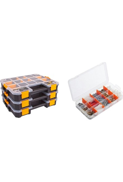 Süper Bag Ünyepark Craft 300 Organizer ve 220 Pcs Çivi Dübel Seti Takım Çantası