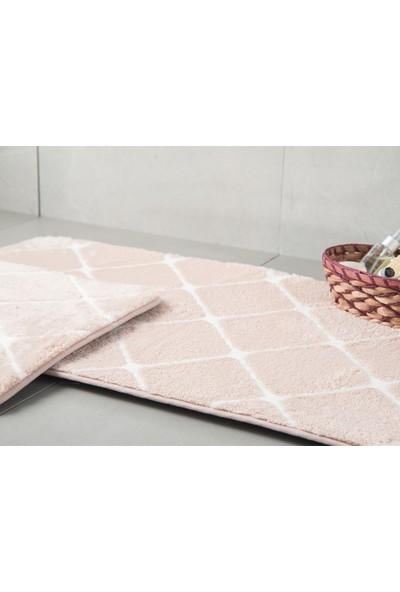 English Home Tile Pudra 60 x 100 cm - 50 x 60 cm Polyester Banyo Paspası Seti