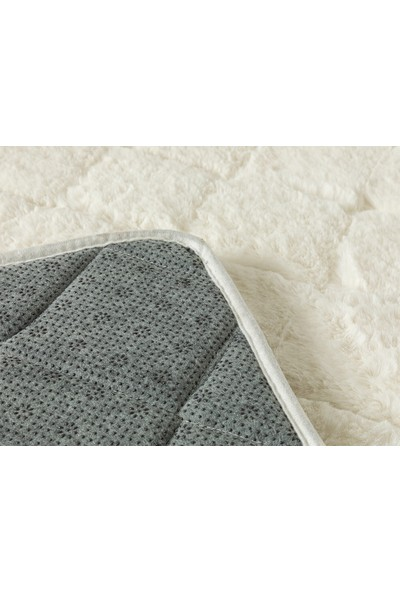 English Home Rabbit Beyaz 50 x 80 cm - 45 x 50 cm Polyester Banyo Paspası Seti