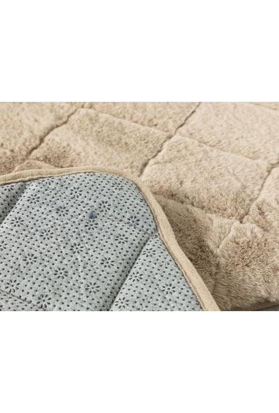 English Home Rabbit Bej 50 x 80 cm - 45 x 50 cm Polyester Banyo Paspası Seti