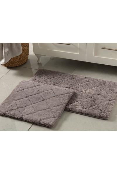 English Home Rabbit Koyu Mürdüm 50 x 80 cm - 45 x 50 cm Polyester Banyo Paspası Seti