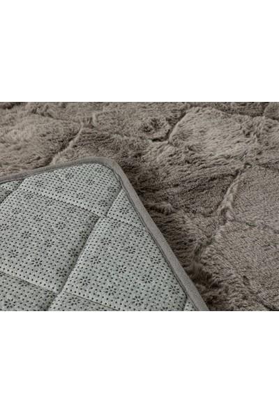 English Home Rabbit Antrasit 60 x 100 cm - 50 x 60 cm Polyester Banyo Paspası Seti