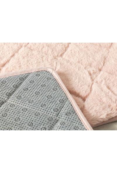 English Home Rabbit Pudra 50 x 80 cm - 45 x 50 cm Polyester Banyo Paspası Seti