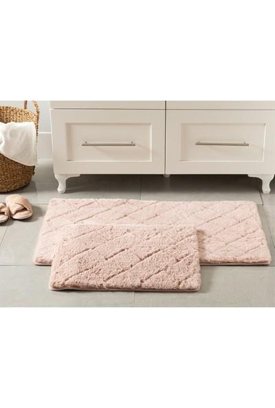 English Home Rabbit Pudra 60 x 100 cm - 50 x 60 cm Polyester Banyo Paspası Seti