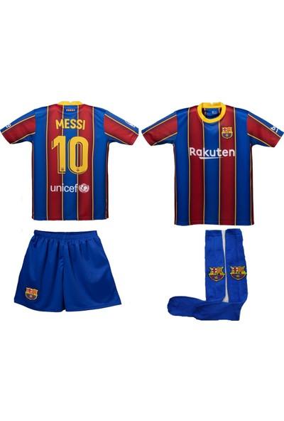 Akyüz Futbol Forma Şort Çorap Seti Messi Barcelona
