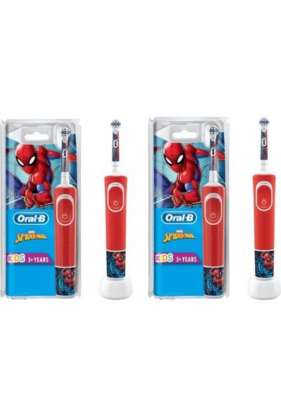 Oral-B D100 Spiderman Çocuklar Için Şarjlı Diş Fırçası 2 Adet